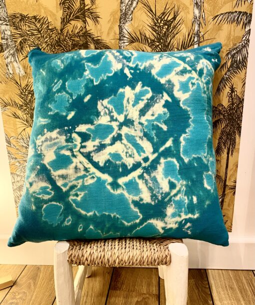 Coussin Tie Dye Turquoise